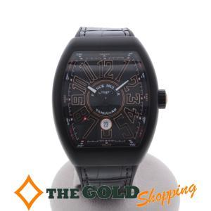 フランクミュラー / FRANCK MULLER : ヴァンガード 黒文字盤 V45 SC DT TT NR BR 5N 時計 腕時計 メンズ[男性用] 中古|thegoldshopping