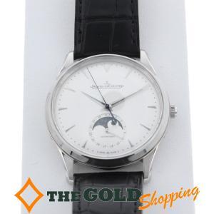 ジャガールクルト / JAEGER LE COULTRE : マスターウルトラスリム ムーン 裏スケ 2017年7月購入 Q1368420 時計 腕時計 メンズ[男性用]