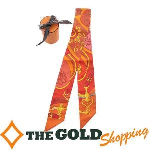 HERMES ツイリー シルク 馬具 オレンジ ピンク イエロー 赤系 小物 ストール スカーフ エルメス thegoldshopping