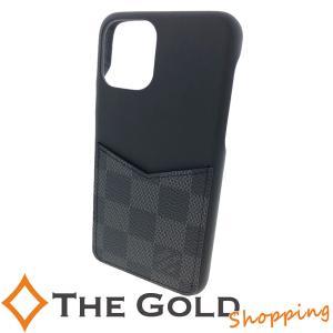 ルイヴィトン iPHONE・バンパー 11 PRO N60366 ダミエ グラフィット スマホケース スマホカバー LOUIS VUITTON【中古】|thegoldshopping