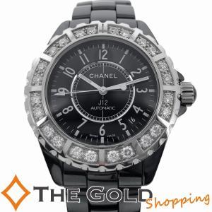 シャネル J12 ラージ ダイヤ ベゼル メーカーOH 2020年11月 H1174 CHANEL ジェイ トゥエルヴ トウェルブ 腕時計 メンズ[男性用]【中古】|thegoldshopping