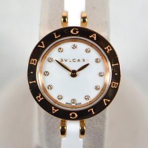 ブルガリ / BVLGARI: B-ZERO1クォーツ 750PG×セラミック ダイヤインデックス  BZP23SGC 時計 腕時計 レディース[女性用](中古)|thegoldshopping