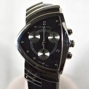 ハミルトン / HAMILTON: ベンチュラ クロノグラフ 黒文字盤  H24412 時計 腕時計 レディース[女性用](中古)|thegoldshopping