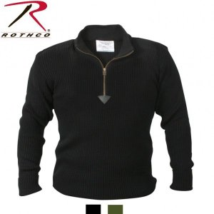 Rothco Quarter Zip Acrylic Commando Sweater(ロスコ クォータージップ コマンド セーター)3390他(2色)|thelargestselection