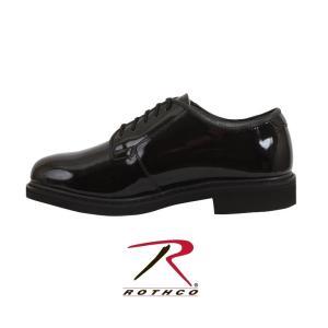 ロスコ エナメルシューズROTHCO Uniform Hi-Gloss Oxford Dress Shoe:5055|thelargestselection