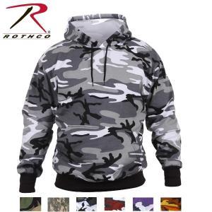 ロスコ カモ プルオーバーフードスウェットシャツ(Rothco Camo Pullover Hooded Sweatshirt)6590/6595(2色)|thelargestselection