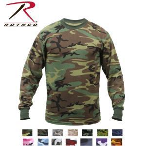 Rothco Long Sleeve Camo T-Shirt(ロスコ カモ ロングスリーブTシャツ)6778他(10色)|thelargestselection