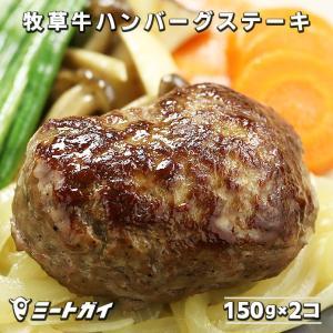 グラスフェッドビーフ100% ハンバーグステーキ  2枚(無添加)