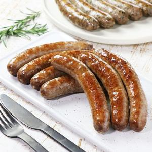 ビーフソーセージ 7本 グラスフェッドビーフ 100%牛肉使用 無添加 砂糖不使用 手作り 生ソーセージ|themeatguy