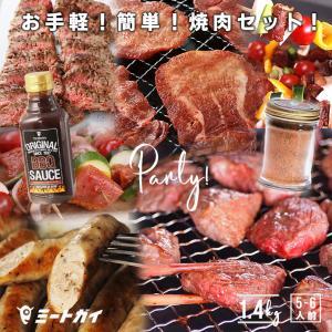 焼肉セット Mサイズ 1.4kg 5-6人前 BBQ 送料無料 / バーベキューセット バーベキュー 肉 塊肉 BBQ食材 アウトドア キャンプ BBQセット|themeatguy