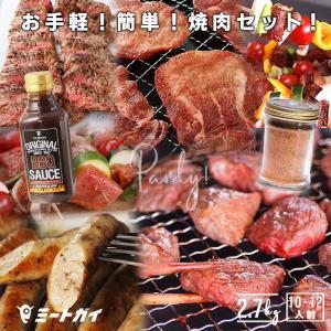 焼肉セット Lサイズ 2.7Kg 10-11人前 BBQ 送料無料 / バーベキューセット バーベキュー 肉 塊肉 BBQ食材 アウトドア キャンプ BBQセット|themeatguy