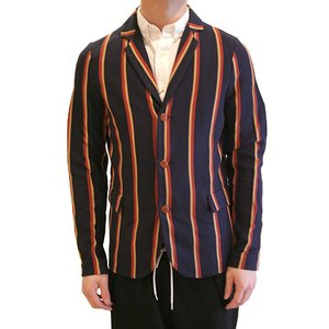 【正規販売】BARK(バーク) 14S/S 3B REGIMENTAL STRIPE JACKET NAVY|thepark