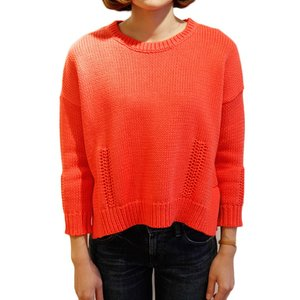 【正規販売】DEMYLEE(デミリー)  Giselle  コットン ニットプルオーバー  orange オレンジ|thepark