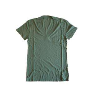 【正規販売】DtE in California(ディーティーイーインカリフォルニア) 10031 V NECK WIDE RIB POCKET WHEAT GRASS|thepark