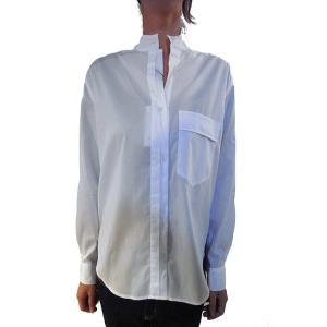 【正規販売】EQUIPMENT(エキップモン) 16S/S ARCHIVE MAGLADENA 織柄シャツ WHITE|thepark