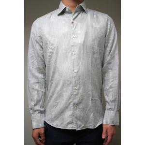【正規販売】Glanshirt(グランシャツ) ストライプシャツ グレー|thepark