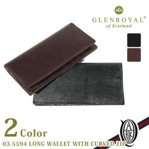 【正規販売】GLENROYAL(グレンロイヤル)  LONG WALLET WITH CURVED ZIP  ロングウォレット カーブ ジップ  [全2色]|thepark