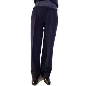 【正規販売】JOHNLAWRENCE SULLIVAN(ジョンローレンスサリバン)15-16A/W MELTON WIDE PANTS NAVY|thepark