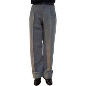 【正規販売】JOHNLAWRENCE SULLIVAN(ジョンローレンスサリバン)15-16A/W MELTON WIDE PANTS GREY|thepark