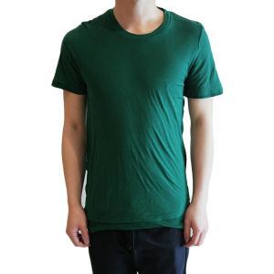【正規販売】KRIS VAN ASSCHE(クリスヴァンアッシュ) DOUBLE LAYER ROUND NECK TSHIRT GREEN|thepark