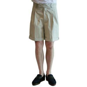 【正規販売】KRIS VAN ASSCHE(クリスヴァンアッシュ) PLEATED SHORTS BEIGE|thepark