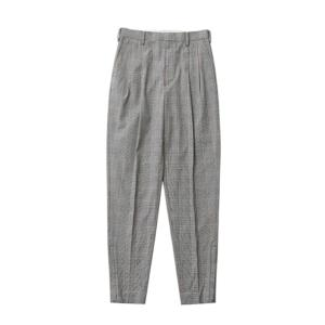 【正規販売】beautiful people ビューティフルピープル レディース 17S/S c/nylon glen check tucked pants light grey 30%OFF thepark