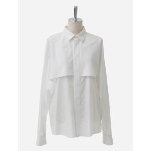 【正規販売】beautiful people ビューティフルピープル レディース 17SS cotton silk lawn flared yoke shirt off white 30%OFF thepark