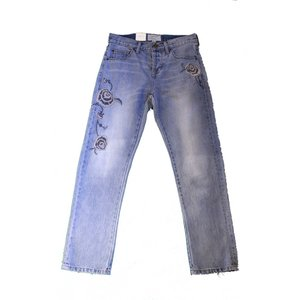 CURRENT/ELLIOTT カレントエリオット ユニセックス THE CROSSOVER Relaxed Fit Jeans Harrison with Embroidery|thepark
