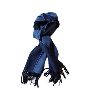 【正規販売】DRAKE'S(ドレイクス)リバーシブルマフラー 511 BLUE/NAVY AL01.70001 thepark
