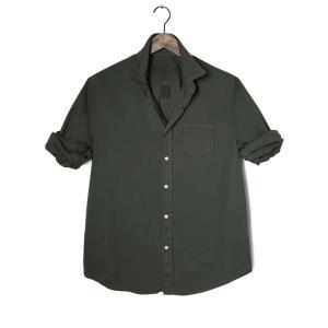 Frank&Eileen フランクアンドアイリーン メンズ LUKE メンズシャツ LIGHT POPLIN DARK GREEN|thepark