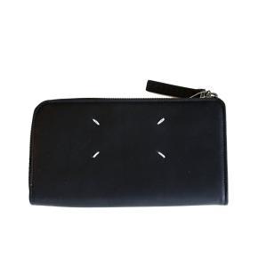 Maison Margiela メゾン マルジェラ メンズ 17-18A/W L字ジップ長財布 900 BLACK|thepark