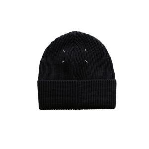 Maison Margiela メゾン マルジェラ メンズ 17-18A/W リブニット帽 900 BLACK|thepark
