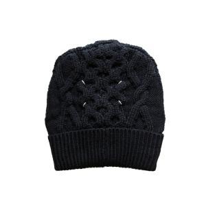 Maison Margiela メゾン マルジェラ メンズ 17-18A/W ケーブルニット帽 900 BLACK|thepark