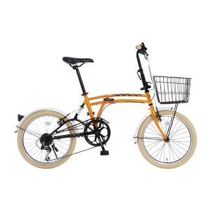 DOPPELGANGER ドッペルギャンガー m6-ORANGE エムシックス 折りたたみ自転車 ミニベロ 小径車「8383」|thepowerful