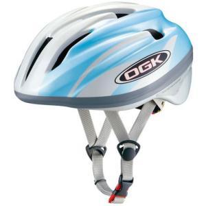 OGK ジェイ・クレス2 J-CULES2 子供用ヘルメット パールホワイトブルー 自転車用品 「55014-T409」|thepowerful