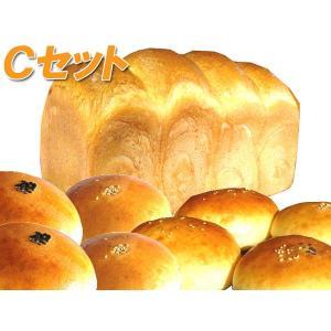米粉パン 「Cセット」 食パン2斤×1個 + あんパン(粒、こし)×各3個 (抹茶)×2個|thepowerful