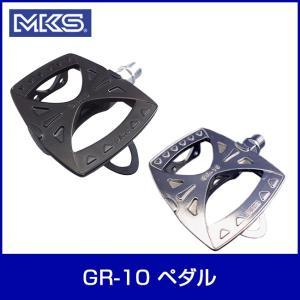 MKS 三ヶ島製作所 GR-10 ペダル シルバー 自転車|thepowerful