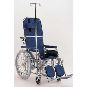 オプション・リクライニング車椅子RR/KX/KXL シリーズ専用ガートル(点滴)台とガートル棒セット(カワムラサイクル製) therapy-shop