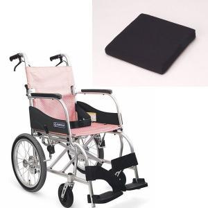 クッション付き+ふわりす KF16-40SB 車椅子(車いす) カワムラサイクル製 お得なセット・車椅子専用セラピークッション付┃超軽量車いす|therapy-shop