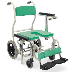 KS12 入浴用車椅子(車いす) カワムラサイクル製 セラピーならメーカー正規保証付き/条件付き送料無料 段差の乗り越えがしやすい後輪12インチ|therapy-shop