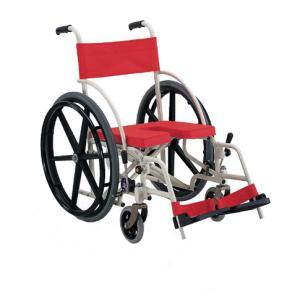 KS7 入浴用車椅子(車いす) カワムラサイクル製 セラピーならメーカー正規保証付き/条件付き送料無料 入浴用で唯一の自走式 折りたたみ可|therapy-shop