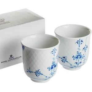 ロイヤルコペンハーゲン ブルーパルメッテ  カップペアセット  日本茶  湯呑|therichcojp