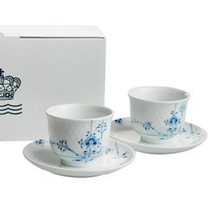 ロイヤルコペンハーゲン ブルーパルメッテ  ティーカップ&ソーサーペアセット  日本茶  湯呑|therichcojp