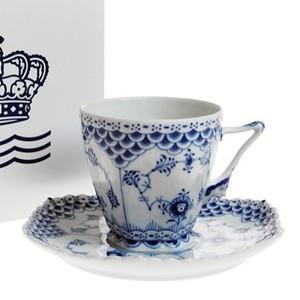 コーヒーカップ&ソーサー 140ml ダブルレース  ロイヤルコペンハーゲン ブルーフルーテッド フルレース 103-068 |therichcojp
