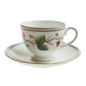 コーヒー ティー兼用カップ&ソーサー リー 200ml  ウェッジウッド ワイルドストロベリーアーカイブ |therichcojp