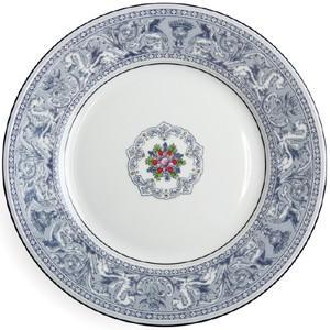 プレート20cm ケーキ皿 取り皿 デザート皿  ウェッジウッド  フロレンティ−ン・インディゴホワイト |therichcojp