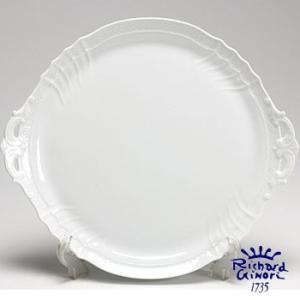ベッキオホワイト ケーキトレイ30.5cm リチャードジノリ 取っ手付き 盛り皿 0440  陶磁器製|therichcojp