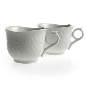 マイセン マグカップペアセット  波の戯れ ホワイト 2個 陶磁器製  Meissen|therichcojp