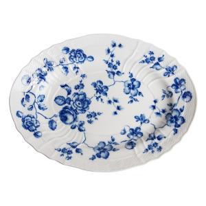ローズブルー オーバルプラター33cm  リチャードジノリ  盛り皿 大皿  陶磁器製|therichcojp