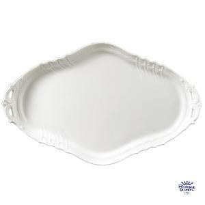 ベッキオホワイト サンドイッチトレイ42cm リチャードジノリ 取っ手付き 盛り皿 2615  陶磁器製|therichcojp